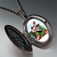 Necklace & Pendants - santas on sleigh pendant necklace Image.