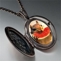 Necklace & Pendants - squirrel sweet watermelon pendant necklace Image.