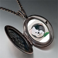 Necklace & Pendants - puffball black white cat pendant necklace Image.