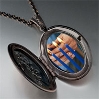 Necklace & Pendants - blue hanukkah candles pendant necklace Image.