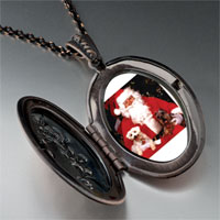 Necklace & Pendants - dogs on santa' s lap pendant necklace Image.