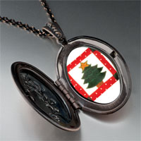 Necklace & Pendants - christmas necklace christmas tree gifts quilt square pendant necklace Image.