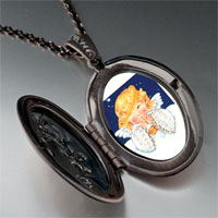 Necklace & Pendants - angel drooping halo pendant necklace Image.