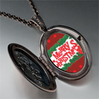 Necklace & Pendants - merry christmas holly pendant necklace Image.