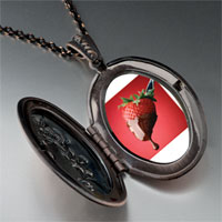 Necklace & Pendants - chocolate dipped strawberry pendant necklace Image.