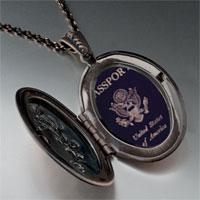 Necklace & Pendants - usa passport pendant necklace Image.