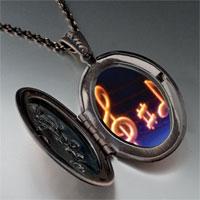 Necklace & Pendants - music note g treble clef photo pendant necklace Image.