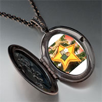 Necklace & Pendants - quilted star ornament pendant necklace Image.