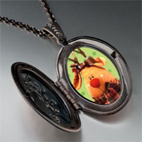 Necklace & Pendants - christmas rudolph reindeer photo pendant necklace Image.
