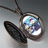 Necklace & Pendants - jewelry christmas gifts snowman carolers pendant necklace Image.