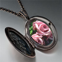 Necklace & Pendants - dusty pink roses pendant necklace Image.