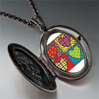 Necklace & Pendants - heart quilt pendant necklace Image.