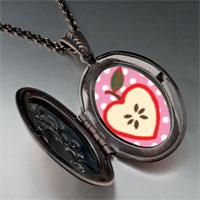 Necklace & Pendants - sliced heart apple pendant necklace Image.