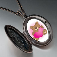 Necklace & Pendants - brown teddy bear heart pendant necklace Image.