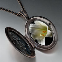 Necklace & Pendants - white lily pendant necklace Image.