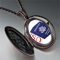 Necklace & Pendants - usa passport blue pendant necklace Image.
