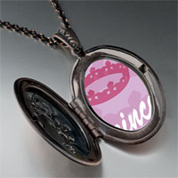 Necklace & Pendants - pink princess tiara pendant necklace Image.