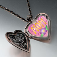 Necklace & Pendants - mom flower photo heart locket pendant necklace Image.