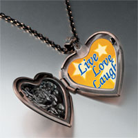 Necklace & Pendants - live love laugh photo photo heart locket pendant necklace Image.