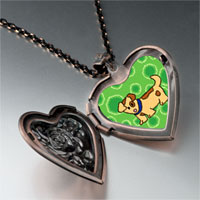 Necklace & Pendants - spotty dog photo heart locket pendant necklace Image.