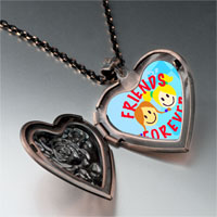 Necklace & Pendants - friends forever photo photo heart locket pendant necklace Image.