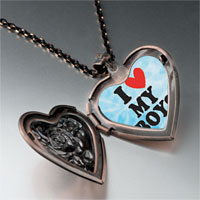 Necklace & Pendants - i heart boys photo photo heart locket pendant necklace Image.