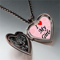 Necklace & Pendants - i heart girls photo photo heart locket pendant necklace Image.