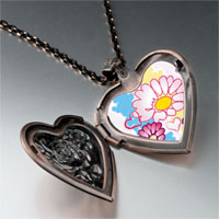 Necklace & Pendants - hearts &  flowers photo heart locket pendant necklace Image.