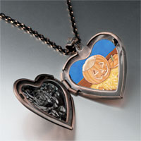 Necklace & Pendants - jack olantern carving photo heart locket pendant necklace Image.