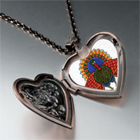 Necklace & Pendants - folk art turkey photo heart locket pendant necklace Image.