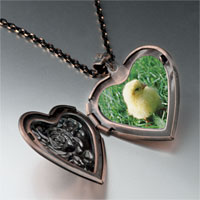 Necklace & Pendants - baby chick photo photo heart locket pendant necklace Image.