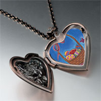 Necklace & Pendants - easter basket photo heart locket pendant necklace Image.