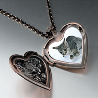 Necklace & Pendants - kitten cat photo photo heart locket pendant necklace Image.