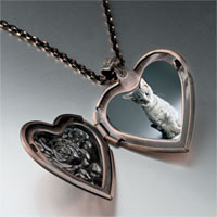 Necklace & Pendants - kitty portrait photo heart locket pendant necklace Image.