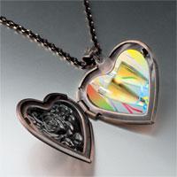 Necklace & Pendants - champagne party photo heart locket pendant necklace Image.