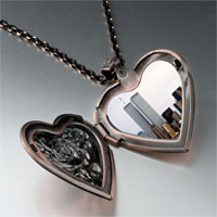 Necklace & Pendants - new york twin towers photo heart locket pendant necklace Image.