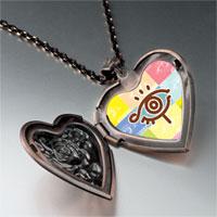 Necklace & Pendants - eye symbol photo heart locket pendant necklace Image.