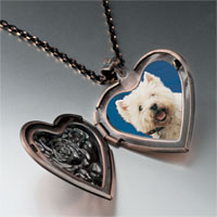 Necklace & Pendants - west highland terrier photo heart locket pendant necklace Image.