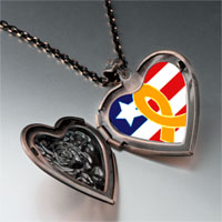 Necklace & Pendants - usa flag &  yellow ribbon photo heart locket pendant necklace Image.