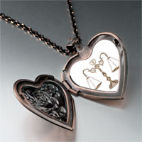 Necklace & Pendants - law scales photo heart locket pendant necklace Image.
