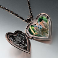 Necklace & Pendants - australia kangaroo photo heart locket pendant necklace Image.
