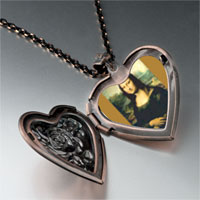 Necklace & Pendants - da vinci' s art mona lisa photo heart locket pendant necklace Image.