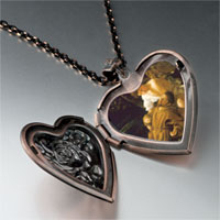 Necklace & Pendants - caravaggio' s stigma photo heart locket pendant necklace Image.
