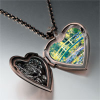 Necklace & Pendants - bridge at giverny photo heart locket pendant necklace Image.