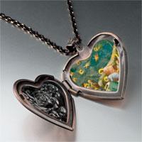 Necklace & Pendants - mourning christ art photo heart locket pendant necklace Image.