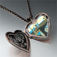 Necklace & Pendants - dali' s persistence memory photo heart locket pendant necklace Image.
