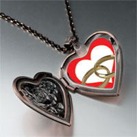 Necklace & Pendants - wedding ring heart photo heart locket pendant necklace Image.