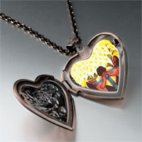 Necklace & Pendants - diego rivera' s el vendedor alcatraces photo heart locket pendant necklace Image.