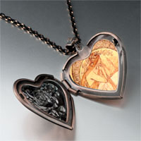 Necklace & Pendants - mucha' s poetry photo heart locket pendant necklace Image.