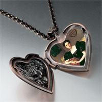 Necklace & Pendants - mrs john chapman photo heart locket pendant necklace Image.